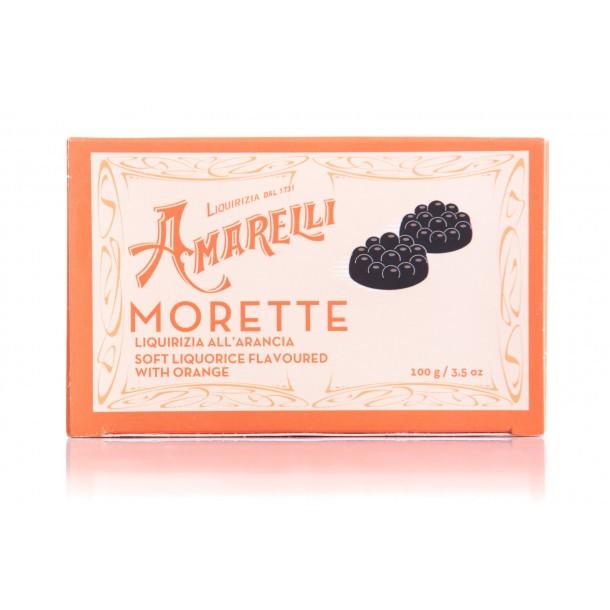 Amarelli Morette all'arancia (100g) Arancione, Lakridspastil m. appelsin