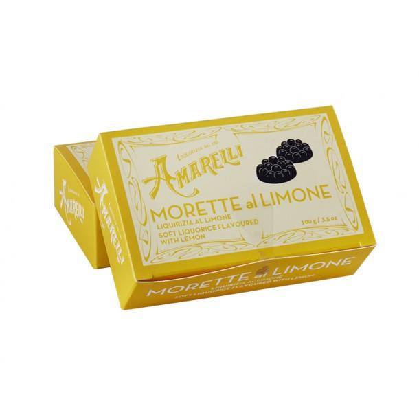 Amarelli lakridspastil m. citron 100g Morette al limone gul boks